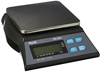 AWS hx-502 cuadro top Loader banco escala 500 g x 0,01 G adaptador de CA American Weigh Scales: Amazon.es: Hogar