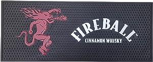"""Fireball Cinnamon Whisky Extra Large Bar Mat Spill Mat Rail Drip Mat - 19.75"""" x 8.0"""""""