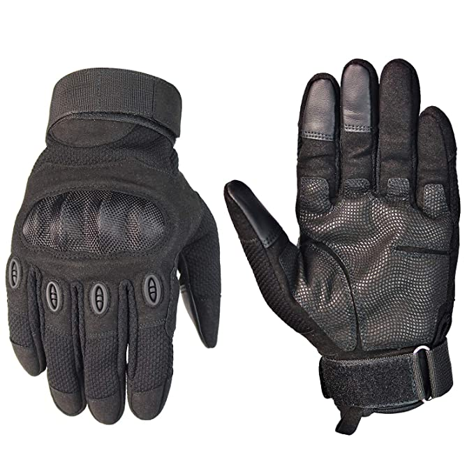 Fuyuanda Tactical Gloves Hard Knuckle Military Army Gloves for Combat Assault Motorcycle Riding Airsoft Hunting Camping Hiking