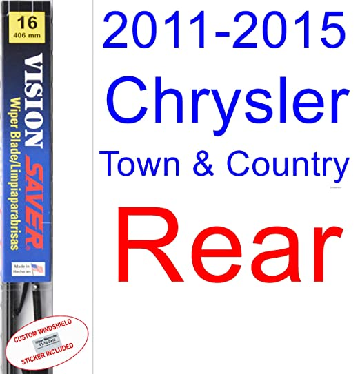 Amazon.com: 2011-2015 Chrysler Town & Country Replacement Wiper Blade Set/Kit (Set of 3 Blades) (Saver Automotive Products-Vision Saver) (2012,2013,2014): ...