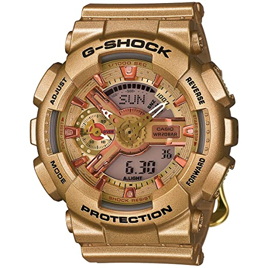 Casio G-Shock G Series Gold Collection Oro Reloj de macho gmas110gd-4 a2: Casio - G-Shock: Amazon.es: Relojes