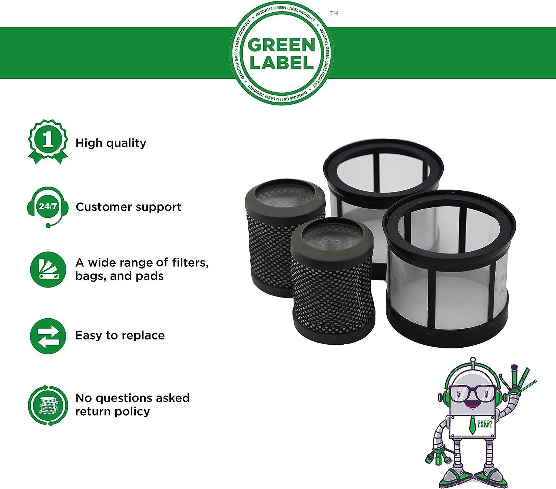 Green Label Empaque de 2 - Malla para Filtro PreMotor y PostMotor Filtro para Aspiradores sin Cable Vax de la Gama SlimVac (Reemplaza a 1-7-137848, 1-7-137849)