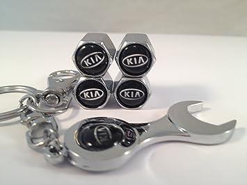 4 tapones embellecedores para válvula de rueda de coche Kia. Incluye llavero en forma de llave inglesa: Amazon.es: Coche y moto