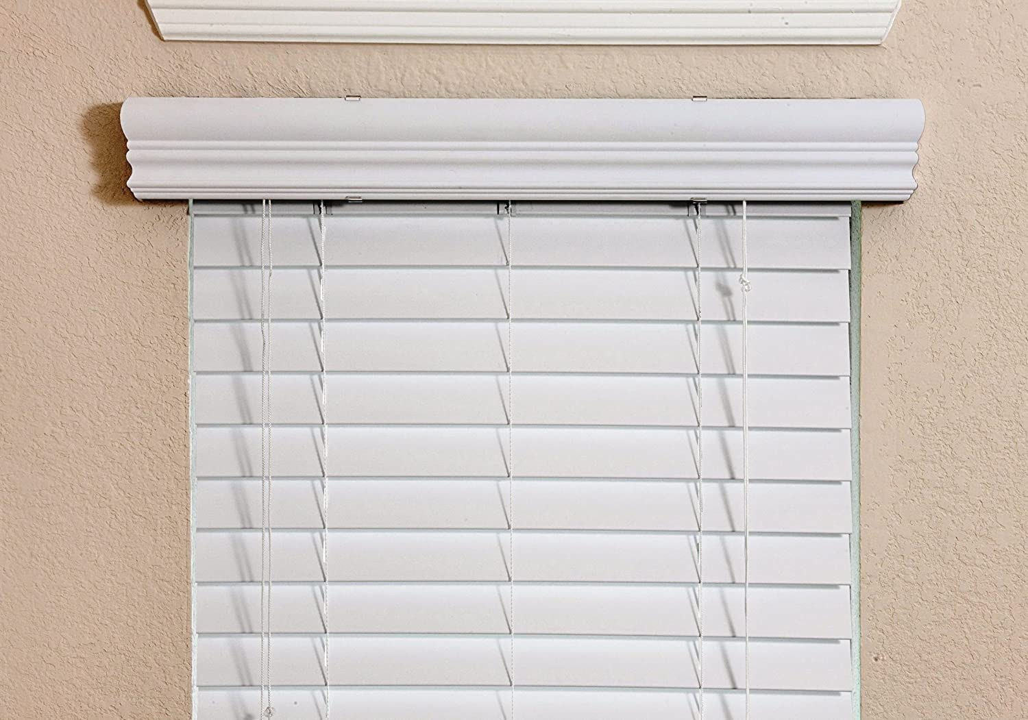 36 inch window blinds - Amazon Com Fauxwood Impressions 36002250 23 Inch By 36 Inch Window Blinds White Home Kitchen