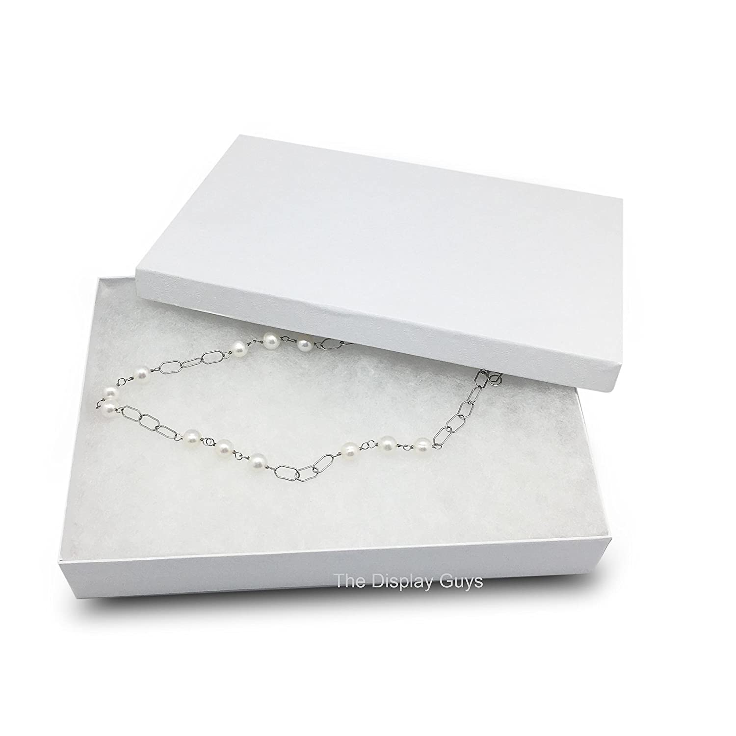 The Display Guys JPI Display Pack of 25 Kraft 5 3//8x3 7//8x1inches Cotton Filled Paper Jewelry Box Gift Display Case #53