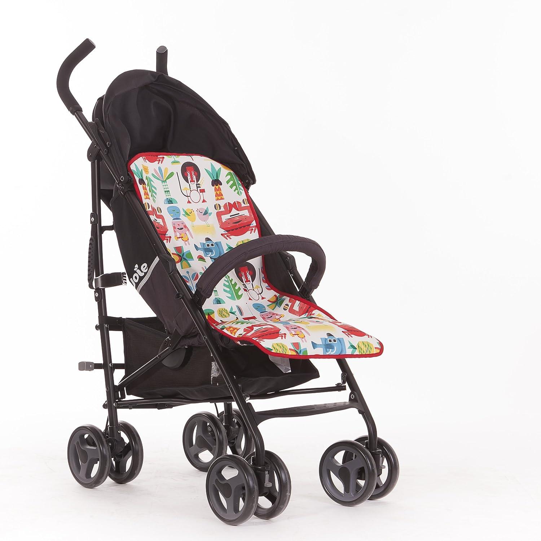 SLEEPAA Colchoneta Silla Paseo Ligera Universal Transpirable Carrito Bebé Antisudoracion Ajustable Fabricada en España Varios modelos (Jungle Rock)