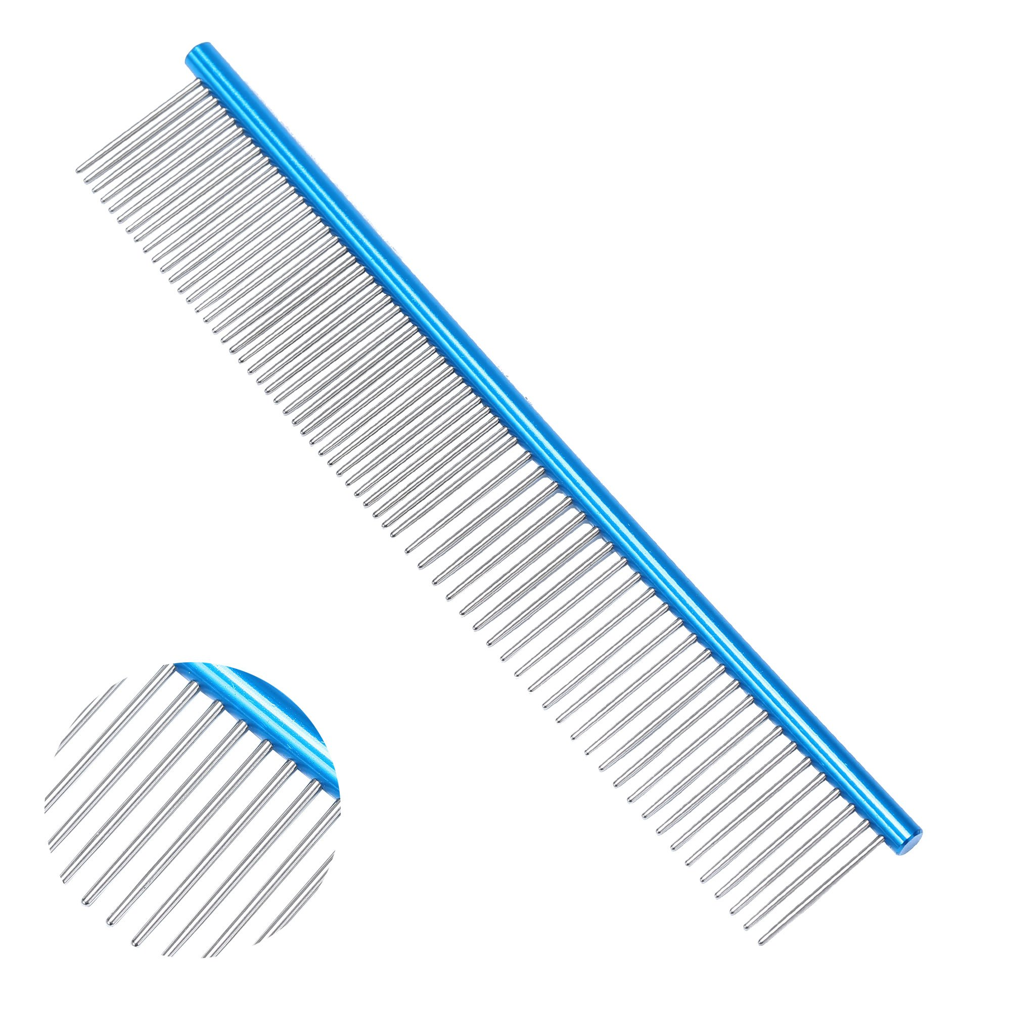 Stainless Steel Dog Comb-Grooming Comb For Dogs, Cats and Other Pets, Great Shedding Tool