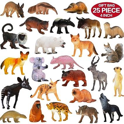 Amazon Com Animals Figure 25 Piece Realistic Looking Animals Toys