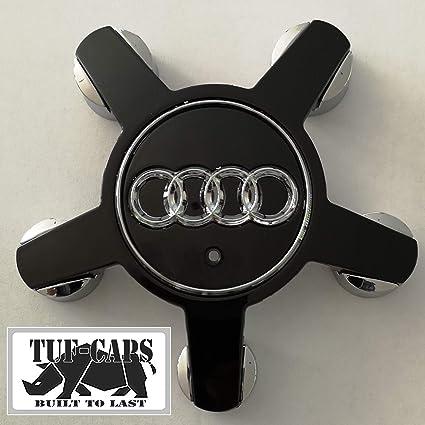 TUFF-CAPS Tapacubos para Audi, A4, A5, A6, S6, Q5, Q7, R8, RS4, RS6 y TTS, 4 Unidades, Repuesto para O/SE, número de Pieza 4F0601165 N Negro: Amazon.es: Coche y moto