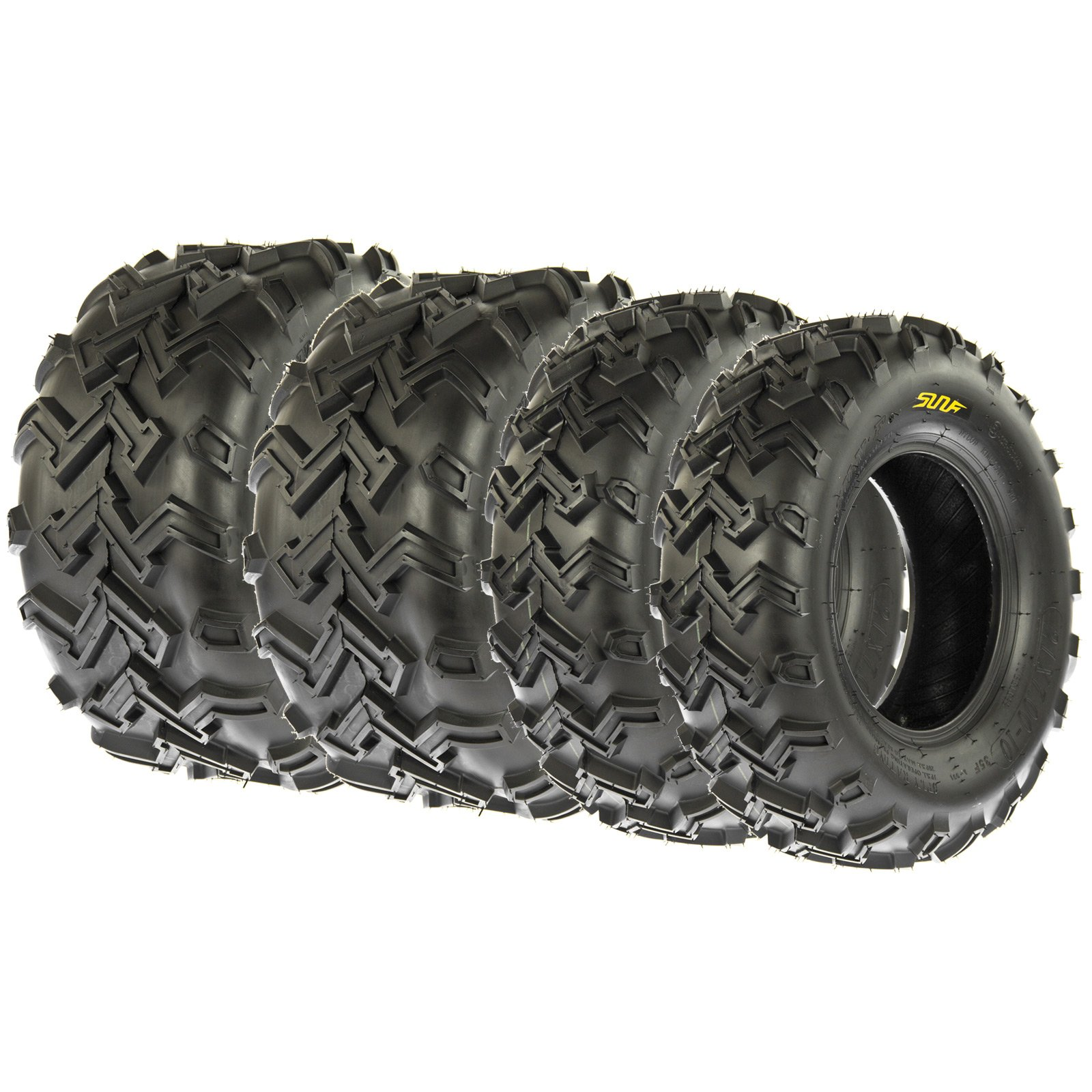 SunF Set of 4 A001 Off Road ATV Sport Tires Front & Rear, 4 Ply (24x8-12 & 24x11-10)