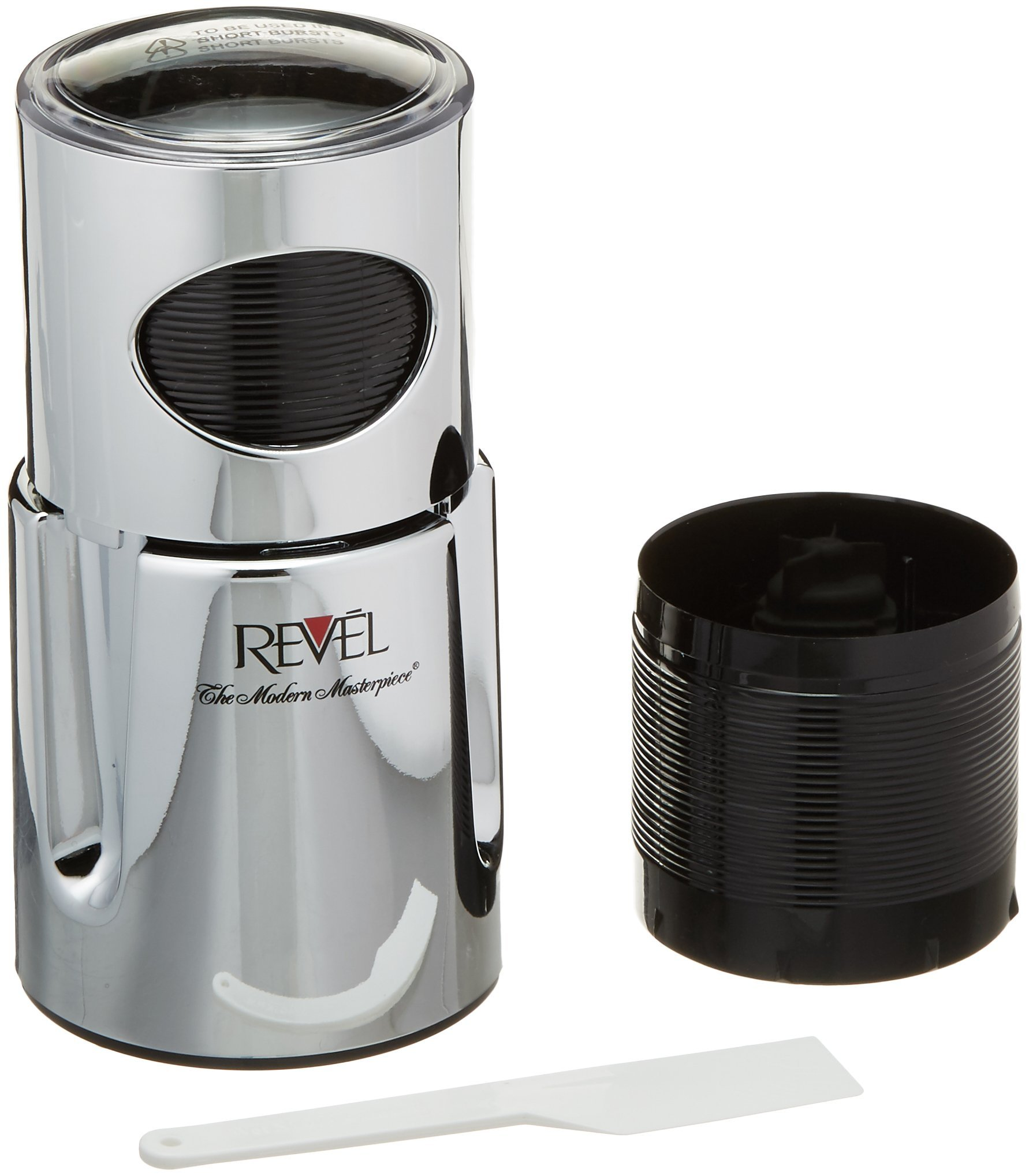 Revel CCM101CP Chrome Wet and Dry Coffee/Spice/Chutney Grinder with Extra Cup, 110-volt by Revel
