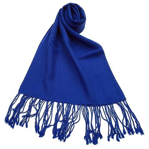 99b5149cdf3f9 NEW COLORS Women's Pashmina Plain Merino Wool 100% Shawl /Wrap Azure ...