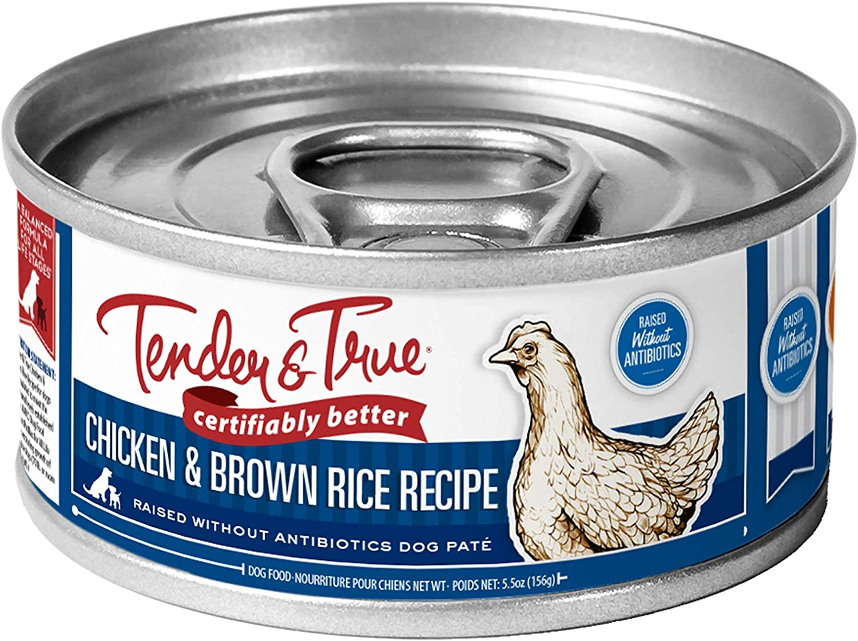 Tender & True Antibiotic-Free Chicken & Brown Rice Recipe Canned Dog Food