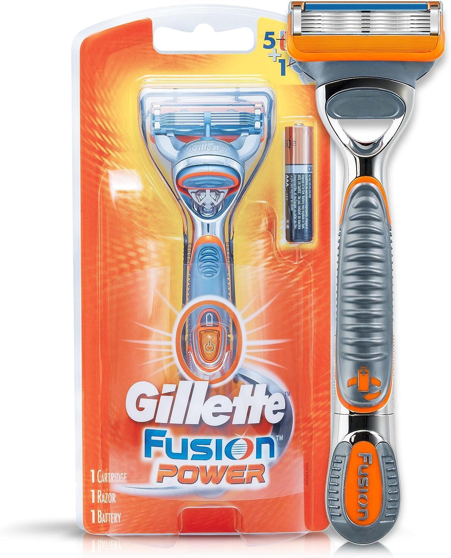 Maquinilla de afeitar Gillette Fusion Power con baterías: Amazon.es: Salud y cuidado personal