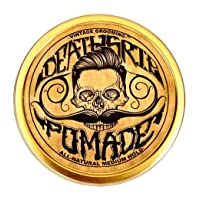 Pomade For Men's Grooming Styling Hair & Beard with Beeswax   Medium Hold & Shine   Like Gel Mousse Cream Or Grease   4 Ounces Natural Handmade in USA   Citrus Scented & Essential Oils   By Death Grip