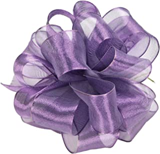 product image for Offray Wired Edge Firefly Metallic Sheer Craft Ribbon, 1-1/2-Inch Wide by 15-Yard Spool, Purple