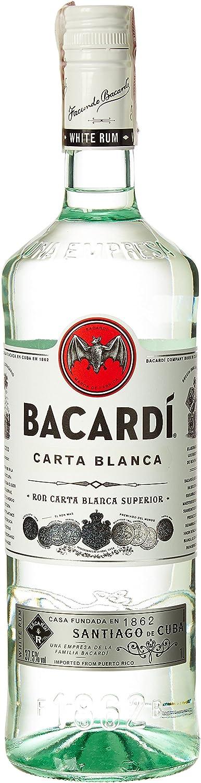 Bacardi Superior Ron, 37.5% - 1 l: Amazon.es: Alimentación y ...