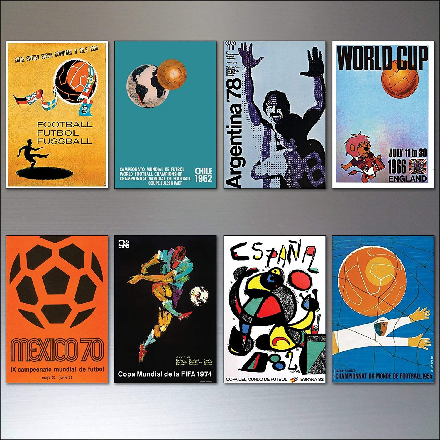 Amazon.com: Football Soccer World Cup Posters from 1954-1982 ...
