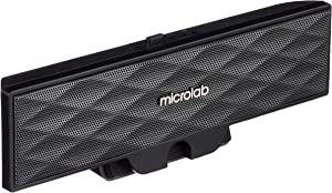 Microlab B51BLACK Portable Amplified USB-Powered Clip-On Speaker for Notebook and Tablet with USB Port (Black)