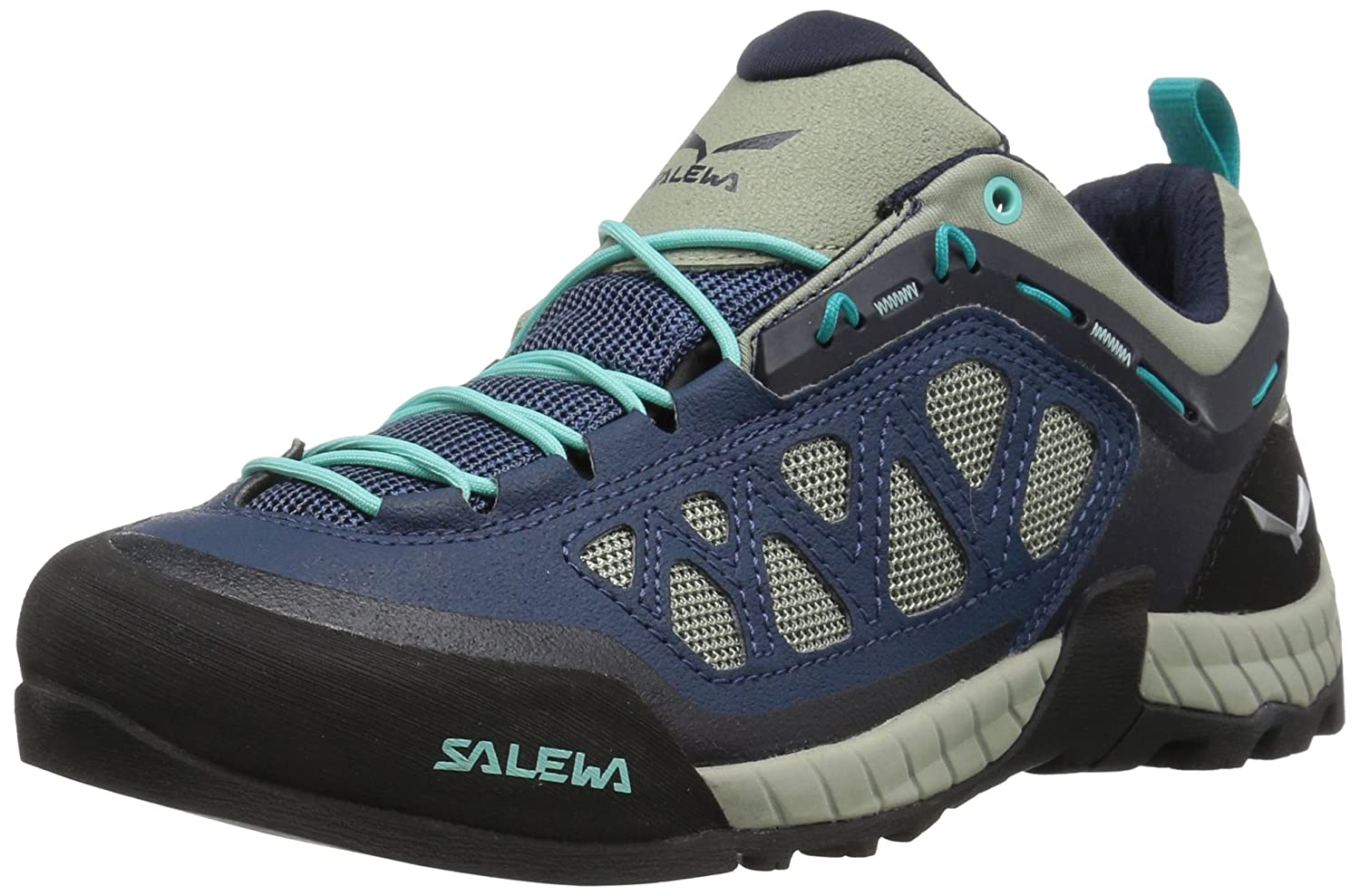 Salewa Women's Firetail 3 Approach Shoes | Approach, Hiking, Alpine Climbing | Vibram Sole, Climbing Lacing, Breathable Upper B01HTN8DUE 6.5 B(M) US|Dark Denim/Aruba Blue