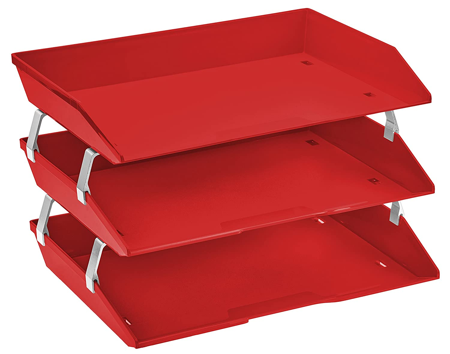 Acrimet Facility Triple Letter Tray (Solid Red Color)