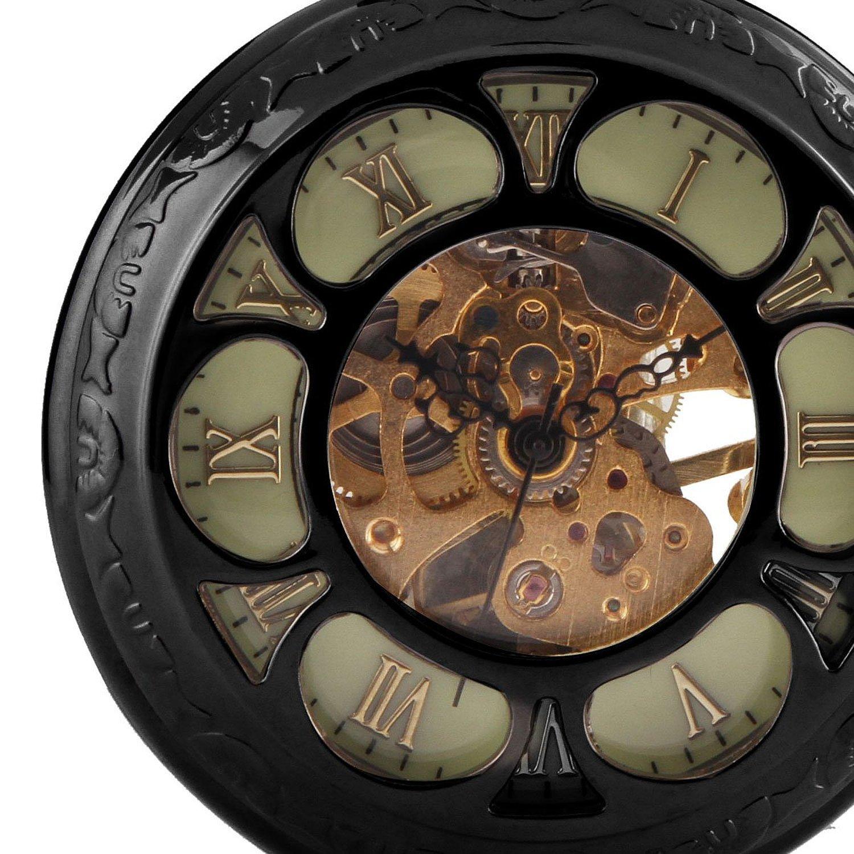 096bf05d2 Carrie Hughes Men's Spiderman Vintage Steampunk Skeleton Mechanical Pocket  Watch Christmas Gifts