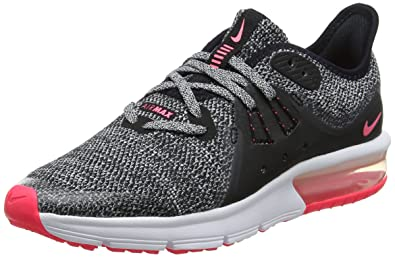 Nike Air Max Sequent 3 Gg, Chaussures de Running Fille Noir (Black/White