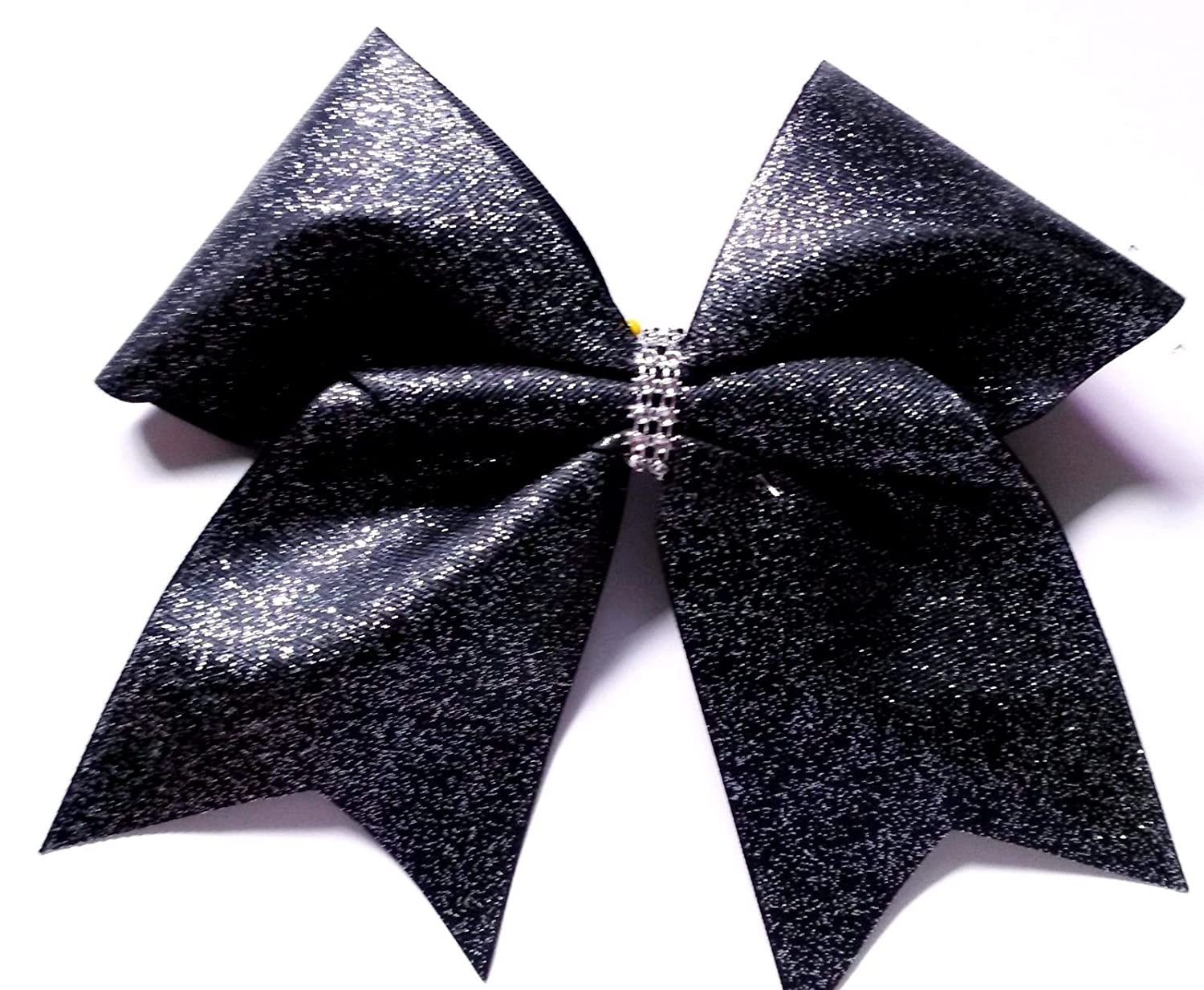 Cheer bows Black Glittery Bling Hair Bow Custombows4U
