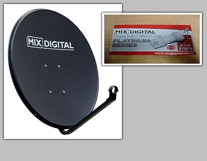 Placa parabólica digital sólida de 80 cm con un solo MD-1 0.1dB LNB