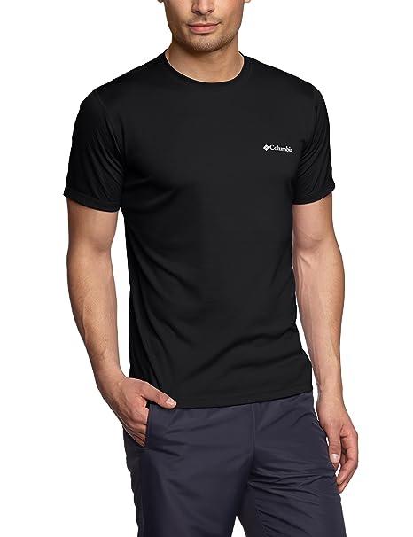 Columbia Zero Rules Short Sleeve Shirt Camiseta de Manga Corta, Hombre, Negro, XXL