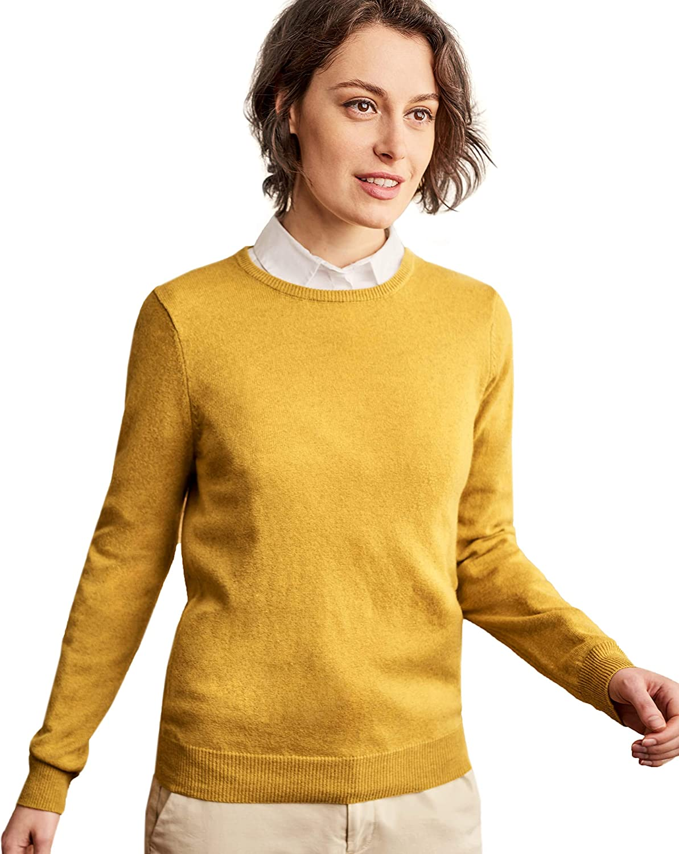 WoolOvers Ladies Cashmere Blend Crew Neck Jumper