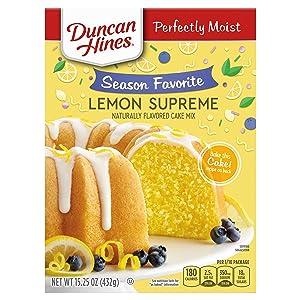 Duncan Hines Signature Perfectly Moist Lemon Supreme Cake Mix, 12 - 15.25 OZ Boxes