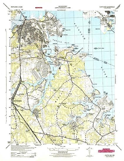Amazon.com: YellowMaps Curtis Bay MD topo map, 1:31680 Scale, 7.5 X ...