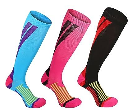 Rwest X Calcetines de compresión Medias de compresión para Hombres y Mujeres, Deporte, Trotar