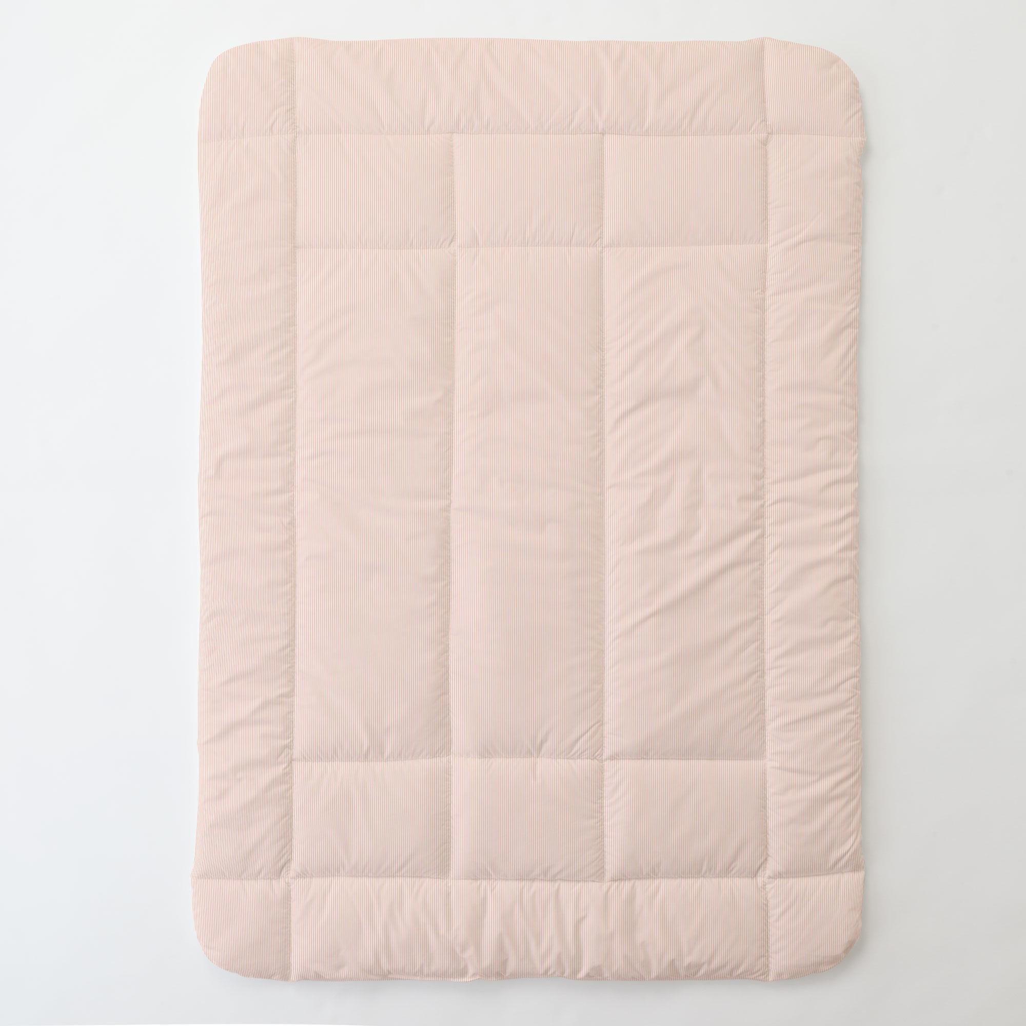 Carousel Designs Peach Mini Stripe Toddler Bed Comforter by Carousel Designs