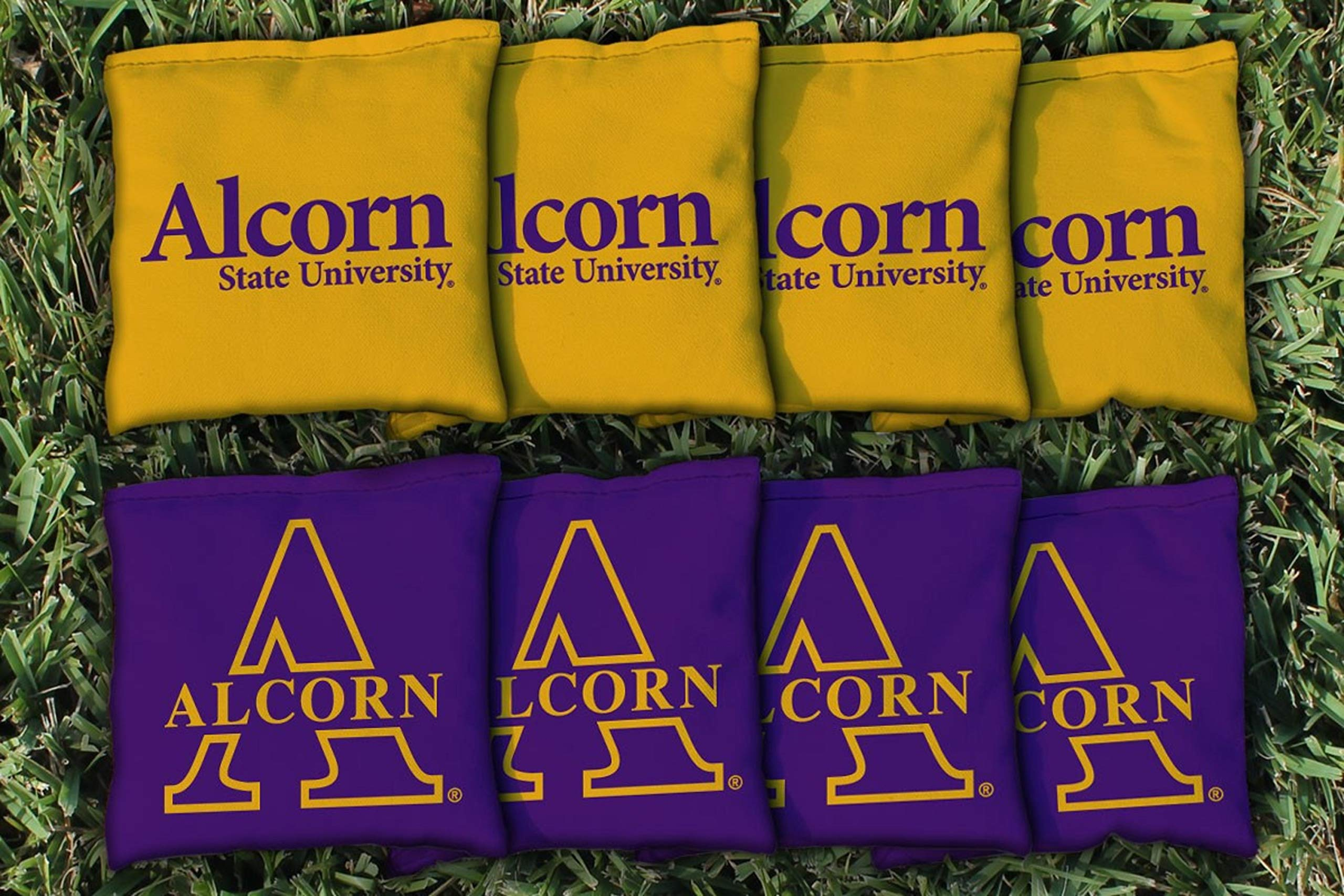 Victory Tailgate NCAA Collegiate Regulation Cornhole Game Bag Set (8 Bags Included, Corn-Filled) - Alcorn State Braves by Victory Tailgate