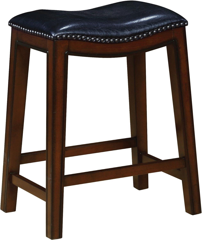 Coaster Home Furnishings Bar Stool, Black/Burnished Cappuccino