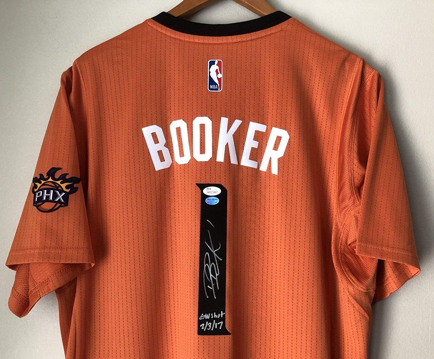 8ba1fcf2900 Devin Booker Autographed Signed Phoenix Suns Autographed Signed Swingman  Jersey (Size XL) JSA   Booker Coa at Amazon s Sports Collectibles Store