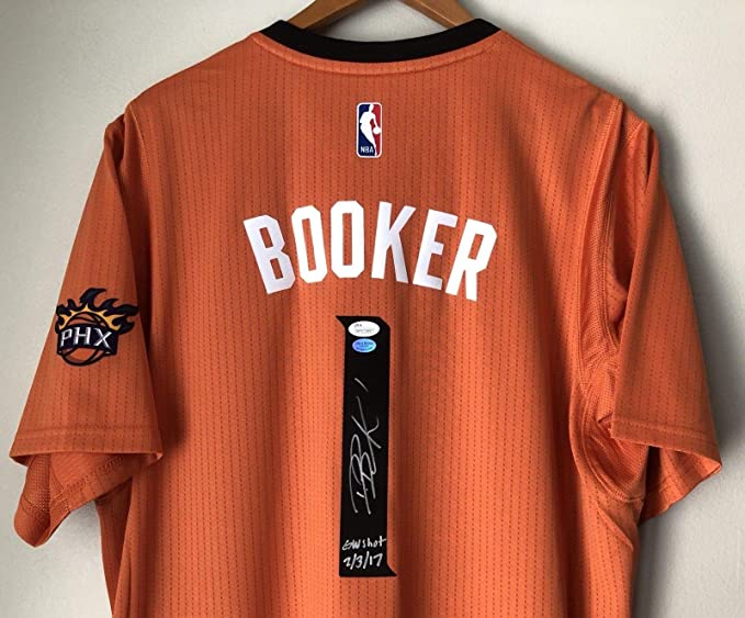 2edeb3e8f8c Devin Booker Autographed Signed Memorabilia Phoenix Suns Autographed Signed  Memorabilia Swingman Jersey JSA Booker Coa at Amazon's Sports Collectibles  Store