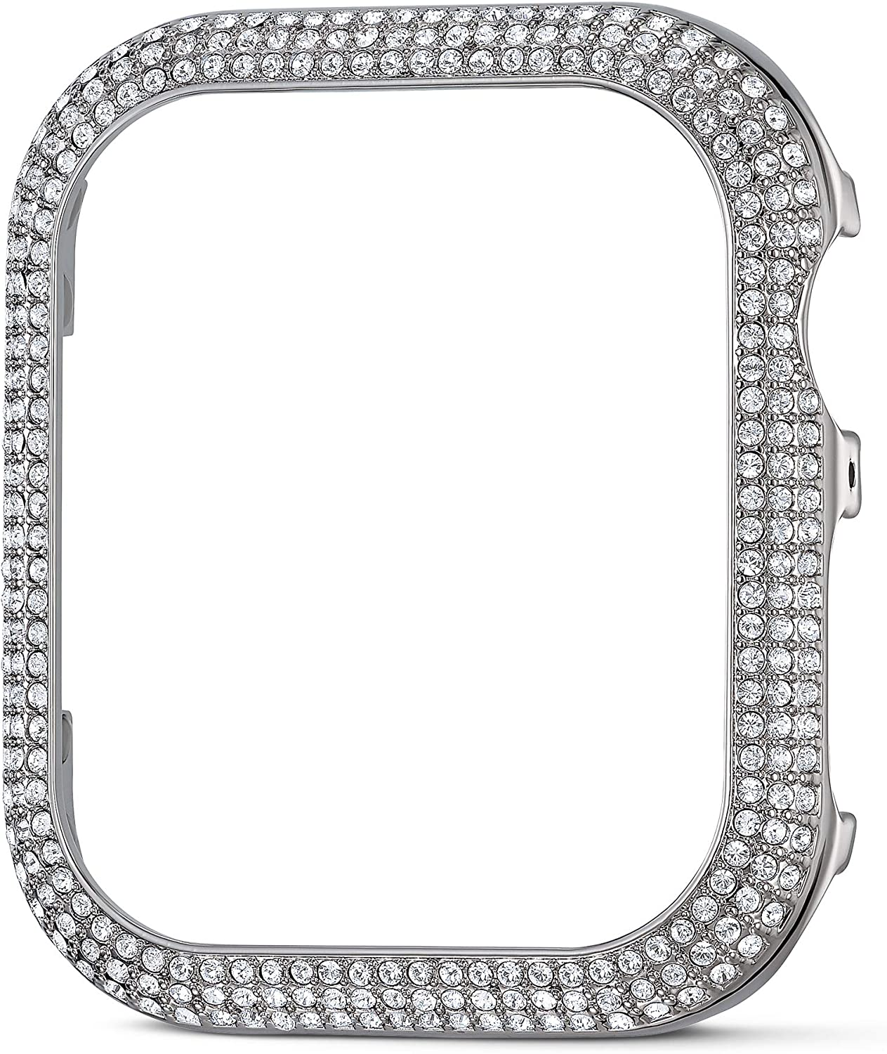 SWAROVSKI 40 mm Sparkling Case Compatible with Apple Watch, Silver Tone, 40