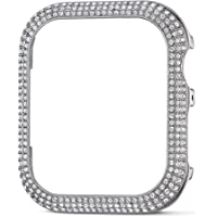 Swarovski Sparkling Smartwatch Case Compatible with Apple Watch Series 4 and 5, 40mm, Silver Tone