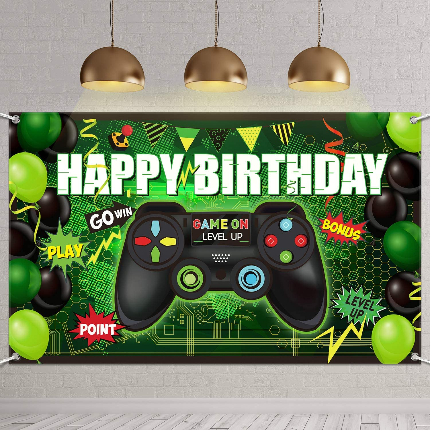 GAMING PARTY Backdrop Gamers Party Videogame Party Banner Decoration Video Game Birthday Background Videogames Party Gamer