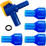 Aquatic Way Bite Valve Replacement Mouthpieces fits Camelbak and Most Brands (4-Pack), with Shutoff Valve and Tube O…