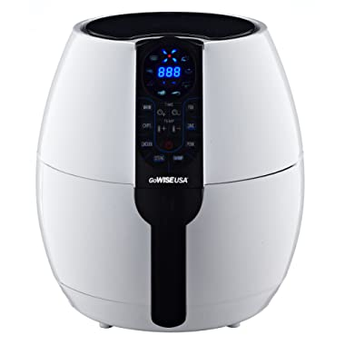 GoWISE USA 3.7-Quart Air Fryer with 8 Cook Presets, GW22640 (White)