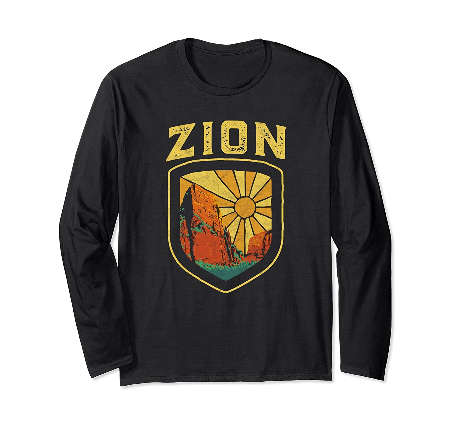 Zion National Park Utah Long Sleeve Shirt - Retro Vintage-alottee gift