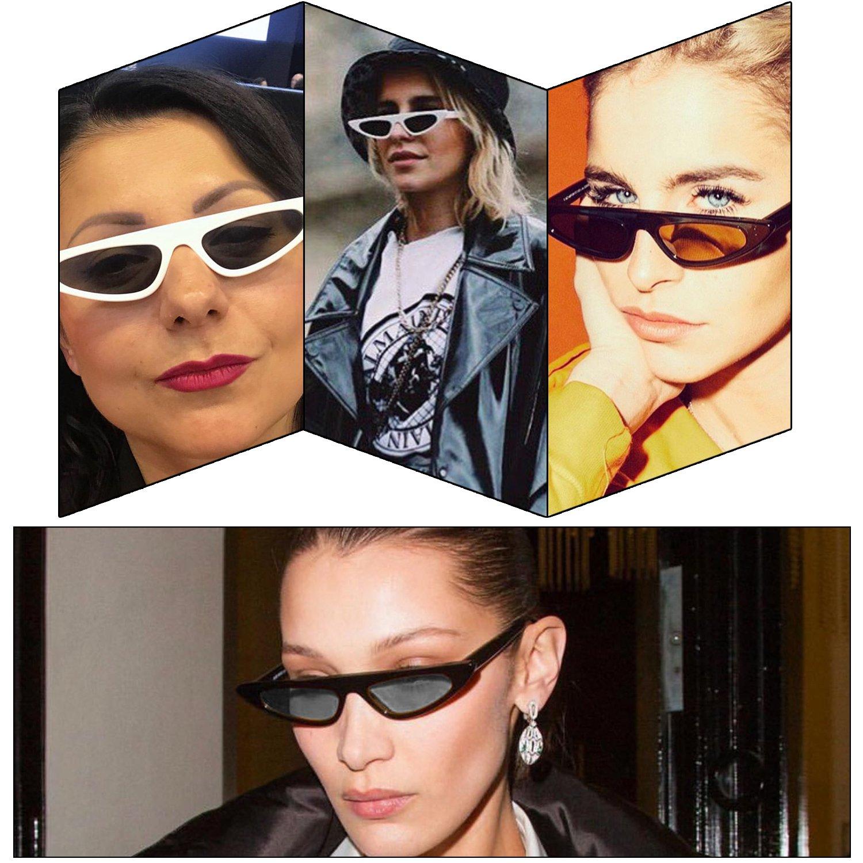 4f65e72edd6b2 Amazon.com  ROYAL GIRL Flat Top Cat Eye Sunglasses Women Slender Small  Retro Vintage Clout Goggles Designer Shades (black)  Shoes