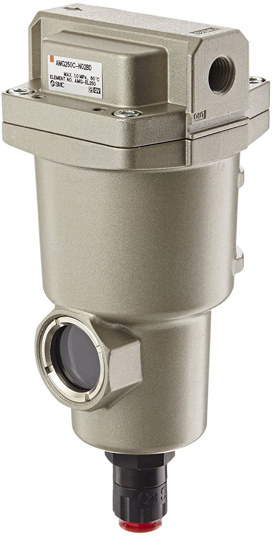 SMC AMG250C-N02BD Water Separator, N.O. Auto Drain, 750 L/min, 1/4' NPT, Mounting Bracket 1/4 NPT