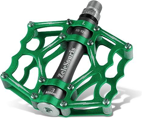 ZeleSouris - Pedales para bicicletas (aleación, llave, montaña ...