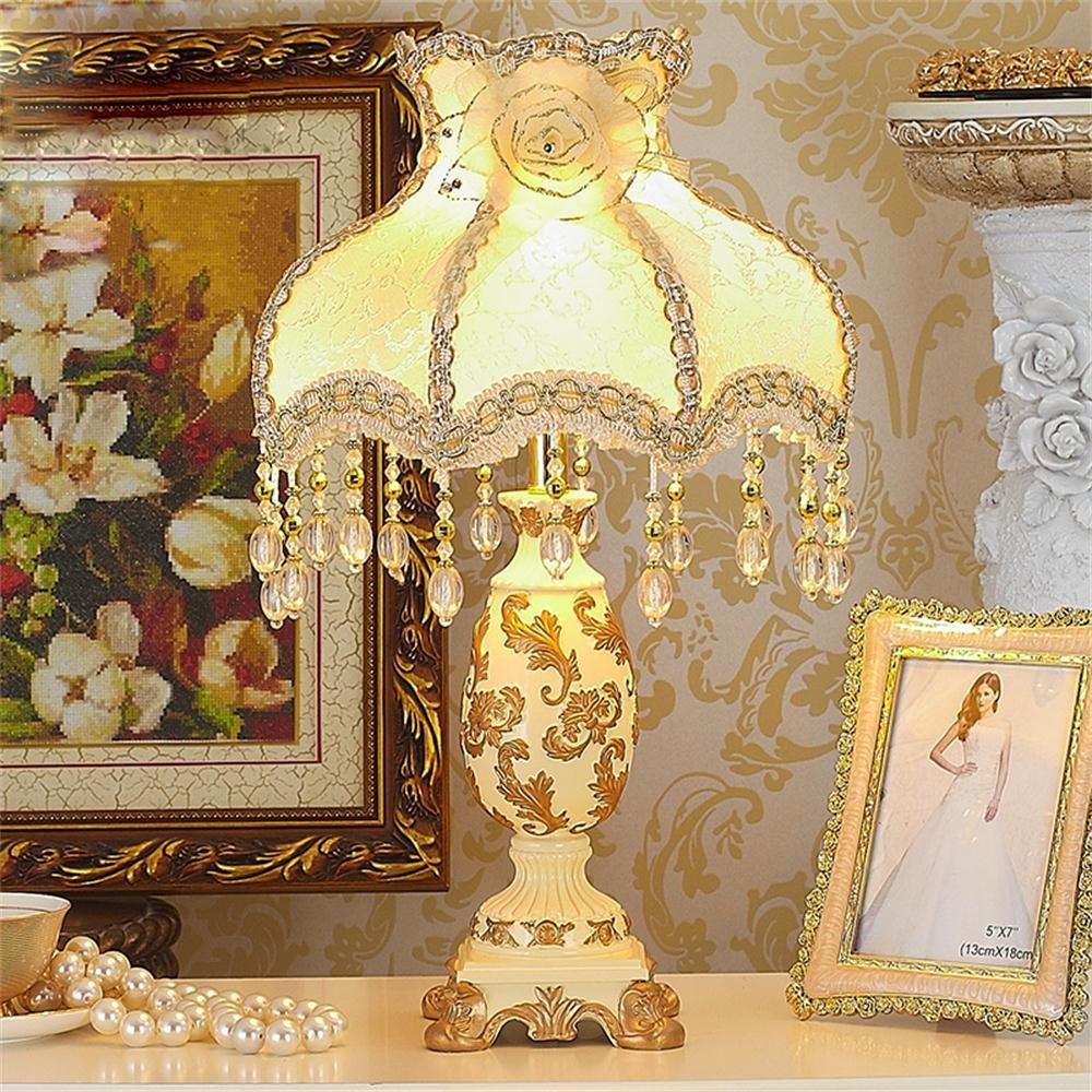 Jack Mall Europäische Tischlampe Nachttischlampe Schlafzimmer Luxus-Komplex Gulei Si Prinzessin Wohnzimmer warmen pastoralen Lampe