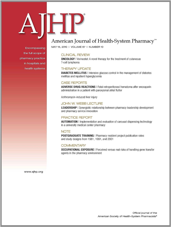 Amazon com: American Journal of Health-System Pharmacy